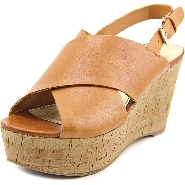 Marc Fisher Sesame Women Open Toe Leather Wedge Sandal