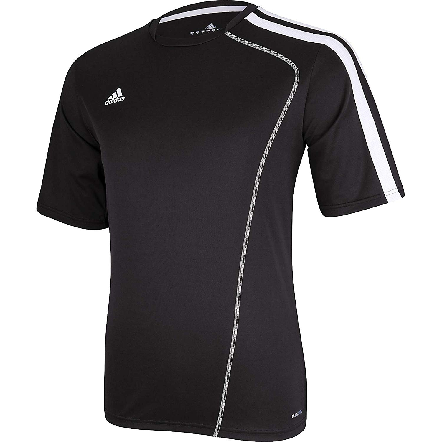 Adidas Boys Estro 12 Soccer Jersey T-Shirt Black//White Size Youth