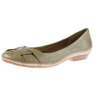 Naturalizer Womens Maude Leather Woven Ballet Flats - 7.5 wide (c,d,w)