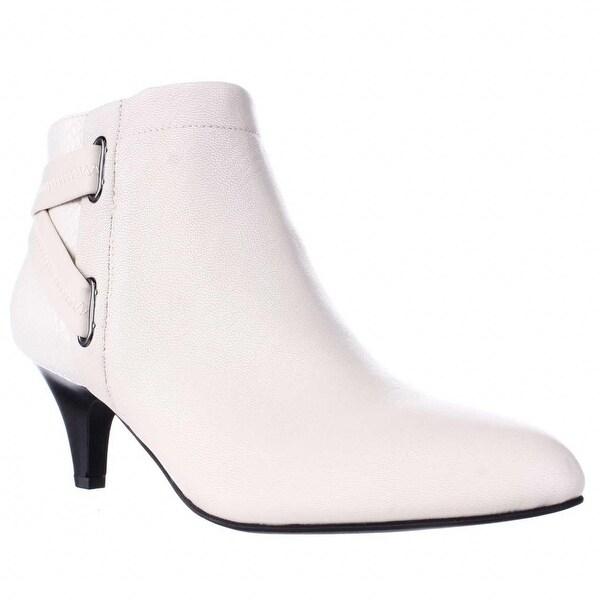 A35 Vandela Elastic Strap Ankle Boots, Ivory - 8 us