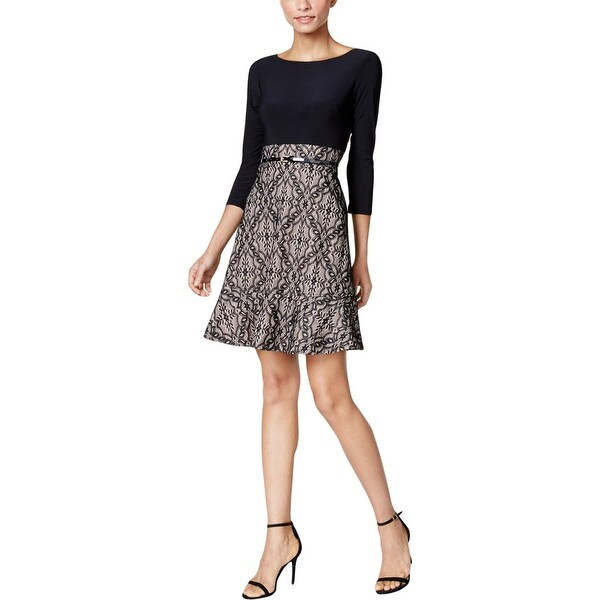 9802d578670 Shop Jessica Howard Womens Petites Party Dress Lace Fit   Flare ...