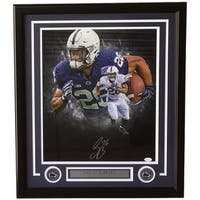 Saquon Barkley Signed Framed 16x20 Penn State Nittany Lions Collage Photo JSA