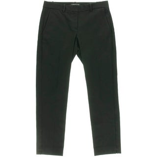 Theory Womens Izelle C Ankle Pants Mid-Rise Solid