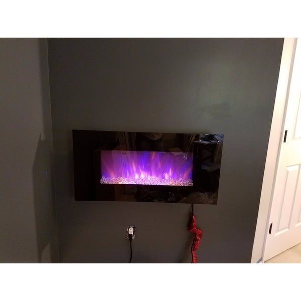 shop electric fireplace wall mounted led fire ice flame with rh overstock com fire and ice electric fireplace fire and ice fireplace kit