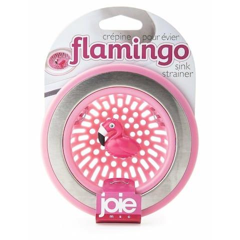 Joie Pink Flamingo Bird Themed Kitchen Sink Strainer Basket - Strain Drain Trap
