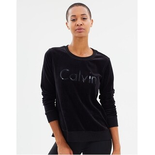 Calvin Klein Performance Women's Plus Size Logo Sweatshirt Black Size Extra Large - XL