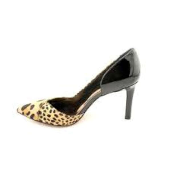 Falchi by Carlos Falchi Womens Lucinda Fur Pointed Toe D-orsay Pumps