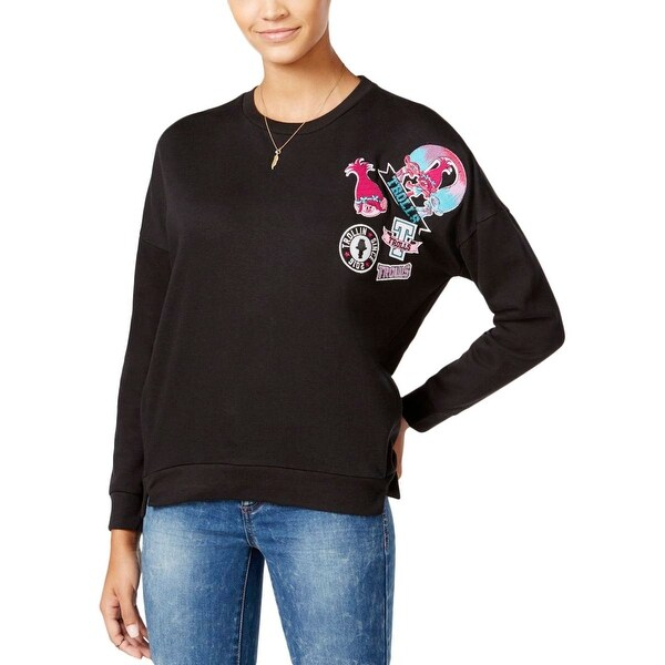 2a45c42f Shop DreamWorks Womens Juniors Trolls Sweatshirt, Crew Solid Cotton - Free  Shipping On Orders Over $45 - Overstock - 19738667