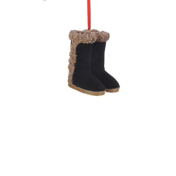 Fashion Avenue Black Ladies Winter Boots Christmas Ornaments 2.5""