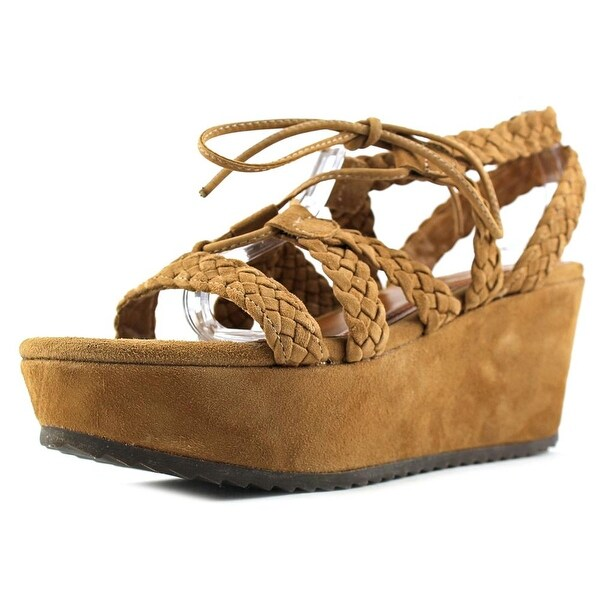 H.S. Trask Patrice Open Toe Suede Wedge Sandal