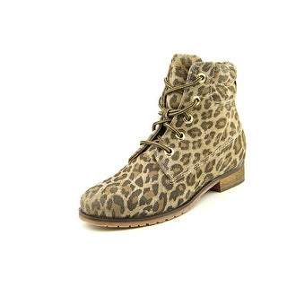 Bronx Mixer Up Round Toe Leather Ankle Boot