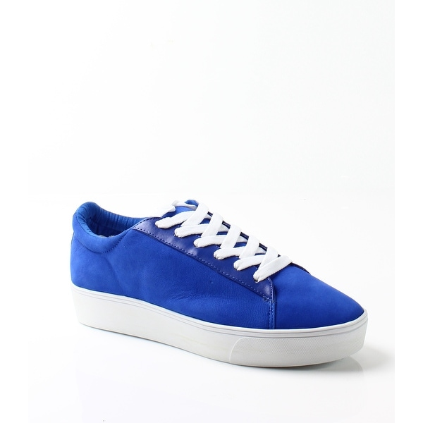 Nine West NEW Blue Women Shoes Size 9.5M Hear Me Out Suede Sneaker