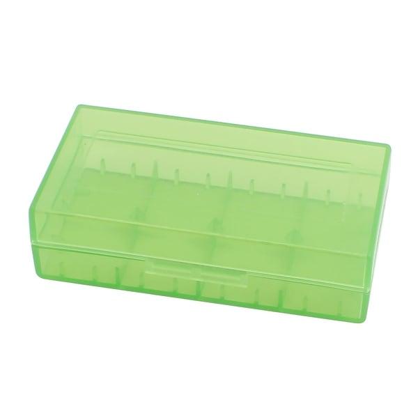 78mmx40mmx21mm Hard Plastic Battery Storage Case Holder Organizer