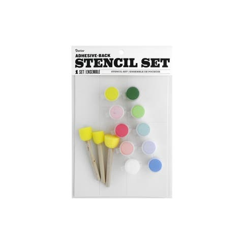 30076178 darice fabric paint stencil kit floral