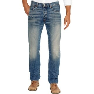 Levi's Mens Straight Leg Jeans Medium Wash Faded