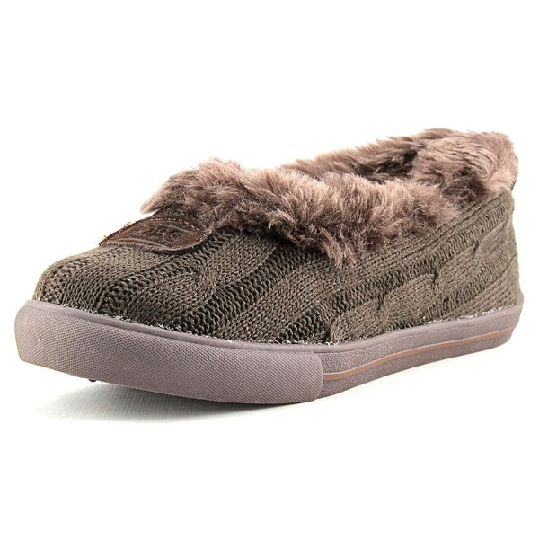 Bobs by Skechers Mad Crush-Snuggle In Round Toe Canvas Slipper