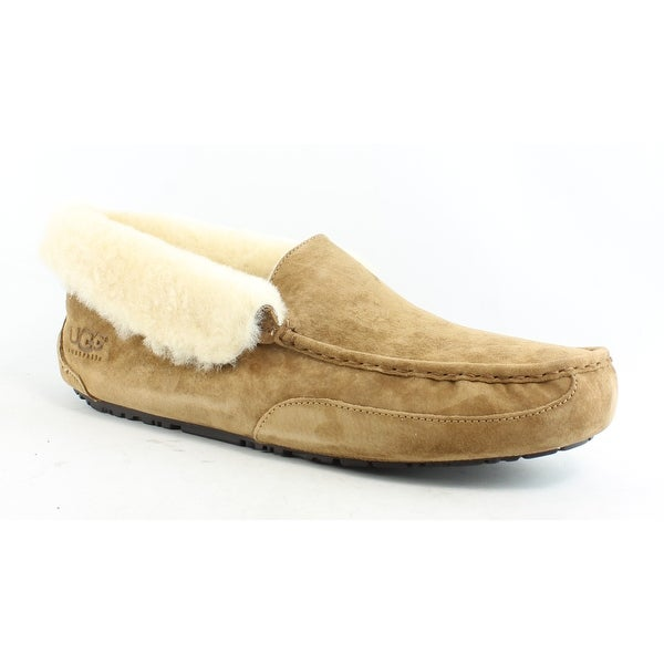 b41561ae55d Shop UGG Mens Grantt Chestnut Suede Moccasin Slippers Size 18 - On ...