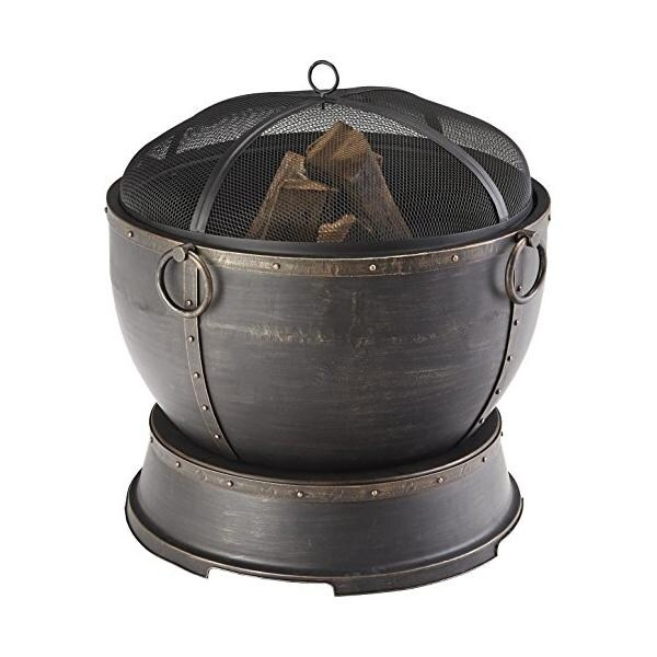 Pleasant Hearth OFW316RA Athena Urn Style Fire Pit - bronze