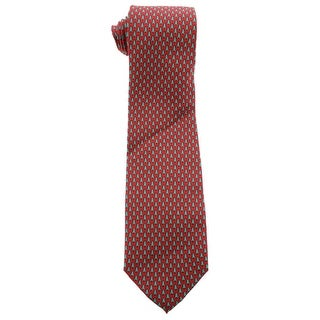 Tommy Hilfiger Mens Silk Christmas Tree Print Neck Tie - o/s