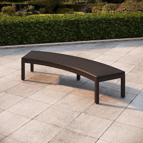 Royal Garden Milano 2-Pack Wicker Patio Bench