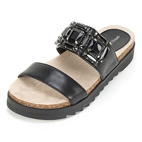 Seven Dials Womens Mazel Open Toe Casual Slide Sandals
