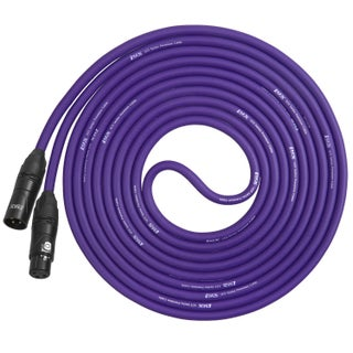 LyxPro Balanced XLR Cable 10 ft Premium Series Professional Microphone Cable, Powered Speakers and Other Pro Devices Cable (Option: Purple)