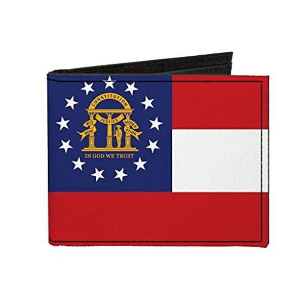 Buckle-Down Canvas Bi-fold Wallet - Georgia State Flag Accessory