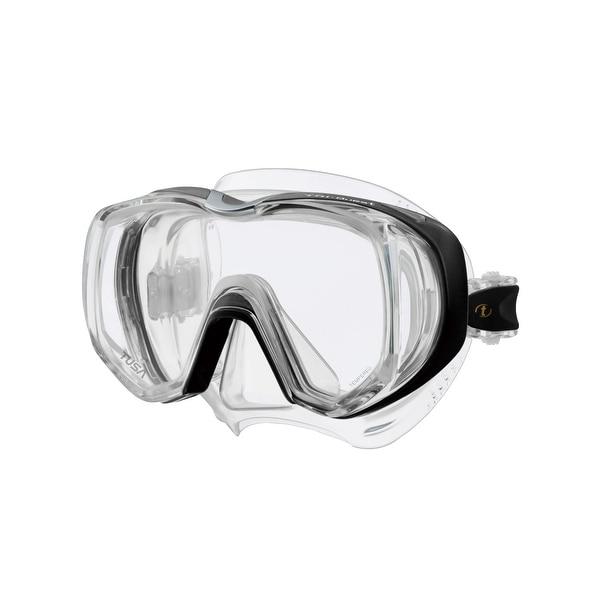 TUSA Unisex-Adult Tri-Quest 3 Window Mask OSFA Black/Clear