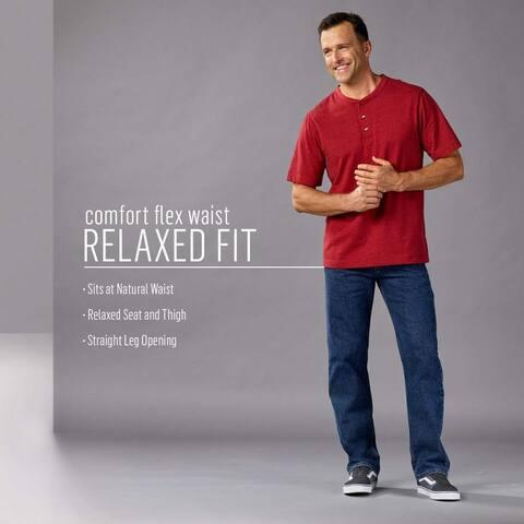 Wrangler Authentics Men's Comfort Flex Waist Relaxed Fit Jean, Carbon, 38x29 - 38W x 29L