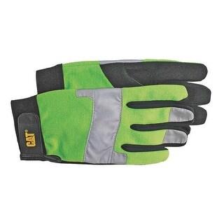 Cat CAT012214L Men's Padded Palm Glove, Large, Black & Green