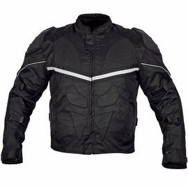 Men Motorcycle Cordura Polyester Waterproof Windproof Jacket Black MBJ014