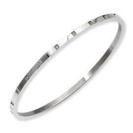 Stainless Steel Polished & CZ Bangle