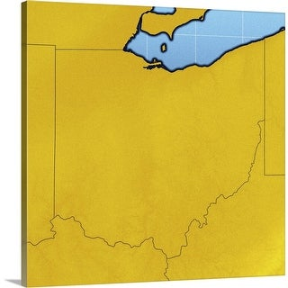 """""""Map of Ohio"""" Canvas Wall Art"""