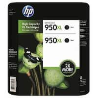 HP 950XL Ink Cartridge Black 2-Pack - N/A