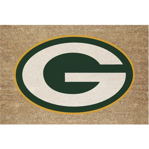 Green Bay Packers Colored Logo Door Mat