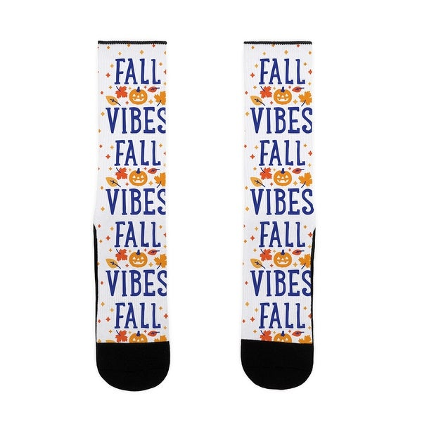 Fall Vibes US Size 7-13 Socks by LookHUMAN
