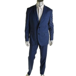 BOSS Hugo Boss Mens The Keys 12/Shaft 2 Virgin Wool 2PC Two-Button Suit - 42S