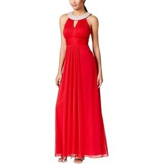 Onyx Nite Womens Evening Dress Embellished Halter