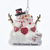 """Pack of 8 White Snowmen and Lady Couple Tabletop Christmas Decorations 3.75"""""""