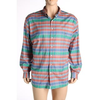 Polo Ralph Lauren Mens Big & Tall Button-Down Shirt Plaid Long Sleeves - 3xb