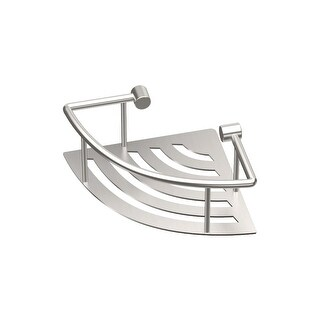 "Gatco 1453  Elegant 8"" Corner Shower Shelf - Brushed"