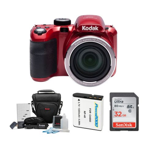Kodak AZ421 PIXPRO Astro 16 MP Digital Camera with Accessory Bundle