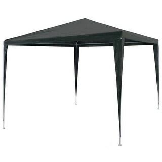 "vidaXL Party Tent PE Green 9'10""x9'10"" Outdoor Canopies Pavilion Gazebo Garden"