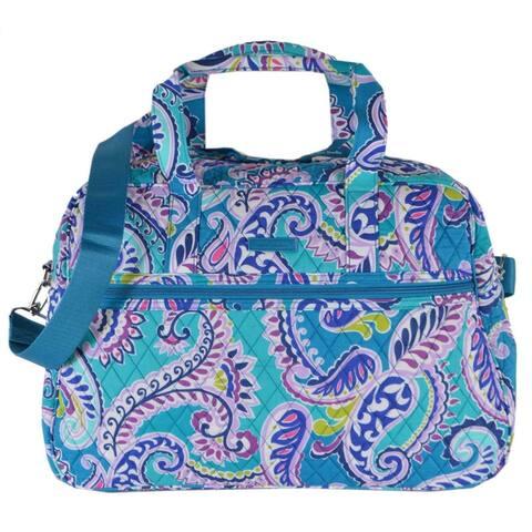 Vera Bradley WAIKIKI PAISLEY Print Medium Traveler Weekender Bag Purse