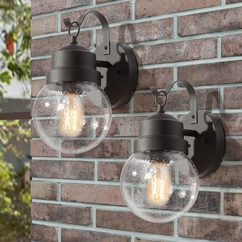 """Modern Rustic Outdoor Wall Lantern Outdoor Wall Sconce Lighting ( Set of 2) - L 6""""x W 7""""x H 11"""""""