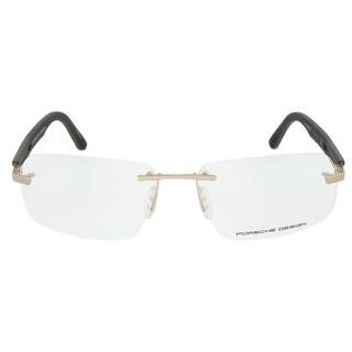 Porsche Design P8233 C Rectangular Gold/Matte Grey Eyeglass Frames