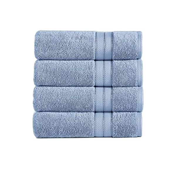 Bergamo 4 Piece Spun loft Fabric Towels with Striped Pattern The Urban Port, Blue. Opens flyout.