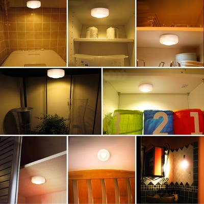3 LED Cabinet Light 16 Colors LightSupport Remote Control Manual Control Closet Night Light
