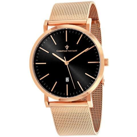 Christian Van Sant Men's Paradigm Black Dial Watch - CV4321 - One Size