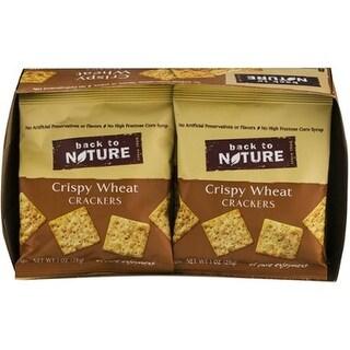 Back To Nature - Crispy Wheat Seasalt Crackers ( 32 - 1 OZ)